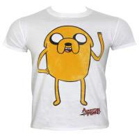 cd24b5af65a Adventure Time Jake White Men s T-shirt  Large (Mens 40- 42)