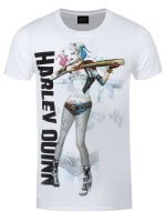 ba1fbf016edf Suicide Squad Harley Quinn Baseball Bat White Men's T-shirt: S..