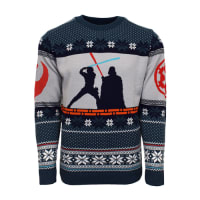 77b9d310c1068c Official Star Wars Luke Vs Darth Christmas Jumper / Ugly Sweat.