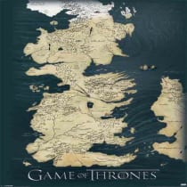 Buy Game Of Thrones The Seven Kingdoms Of Westeros Map Poster 61x91