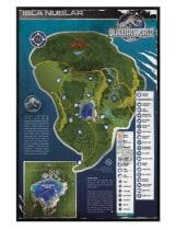 Buy Juric World Gloss Black Framed Isla Nublar Map Maxi Poster ... on