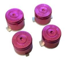 PURPLE Aluminium Alloy Metal Bullet Buttons for PS4 Controller
