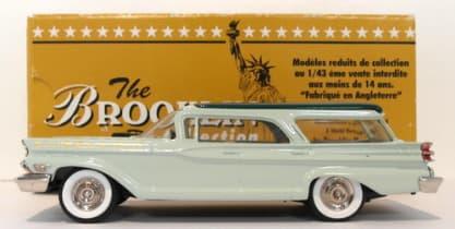 Brookin 1/43 Scale BRK77 - 1959 Mercury Commuter Stn  Wagon Modelex 99 Green