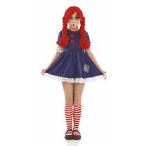 Buy Large Child Scary Broken Rag Doll Costume Girls Halloween Fancy