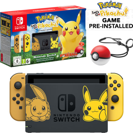 Nintendo Switch Pokémon Let's Go Pikachu! Limited Edition Bundle