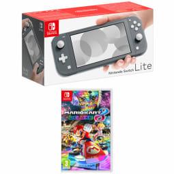 Product Nintendo Switch Lite Grey With Mario Kart 8 Deluxe