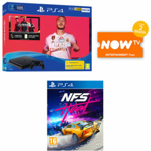 PS4 500GB Fifa 20 Bundle + Need For Speed: Heat + NOW TV for PlayStation 4