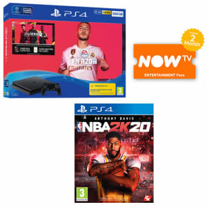 PS4 500GB FIFA 20 Bundle + NBA 2K20 + NOW TV for PlayStation 4