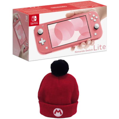 Save £10 - Nintendo Switch Lite - (choose between 4 colours) + Official Nintendo Mario Beanie set at Game