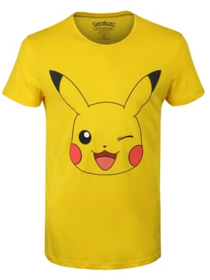 Pokemon Pikachu Yellow Men's PKMN T-shirt: XXL (Mens 44-46) for Clothing and Merchandise