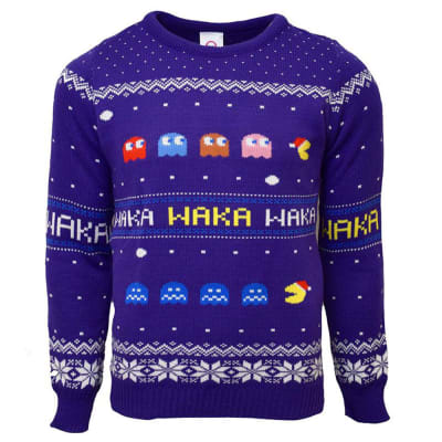 Pac-Man Christmas Jumper - L for Clothing and Merchandise