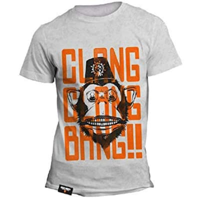 OFFICIAL CALL OF DUTY MONKEY BOMB CLANG CLANG BANG! T-SHIRT - Grey / Large for Clothing and Merchandise