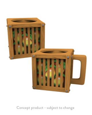Official Crash Team Racing Nitro-Fueled Wumpa Fruit Crate Mug for Clothing and Merchandise