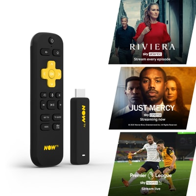 'Now Tv Smart Stick With 1 Month Entertainment Pass, 1 Month Sky Cinema Pass + Sky Sports Day Pass For Multi Format And Universal