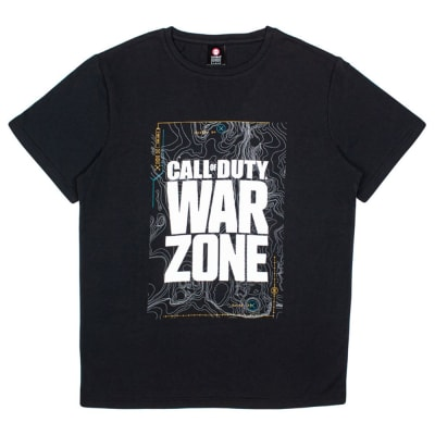 Call of Duty Warzone Black Map Screenprint T-Shirt (S) for Clothing and Merchandise
