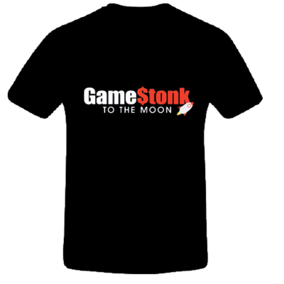 GameStonk To The Moon T-Shirt S for Clothing and Merchandise