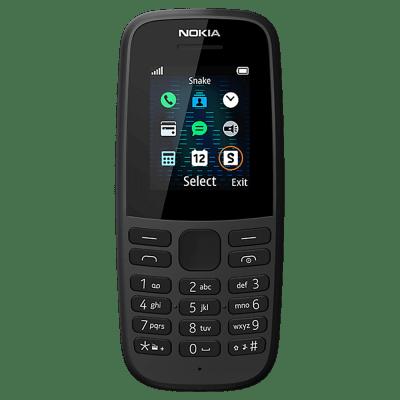 Nokia 105 Dual Sim (2019) Black, Unlocked for Phones
