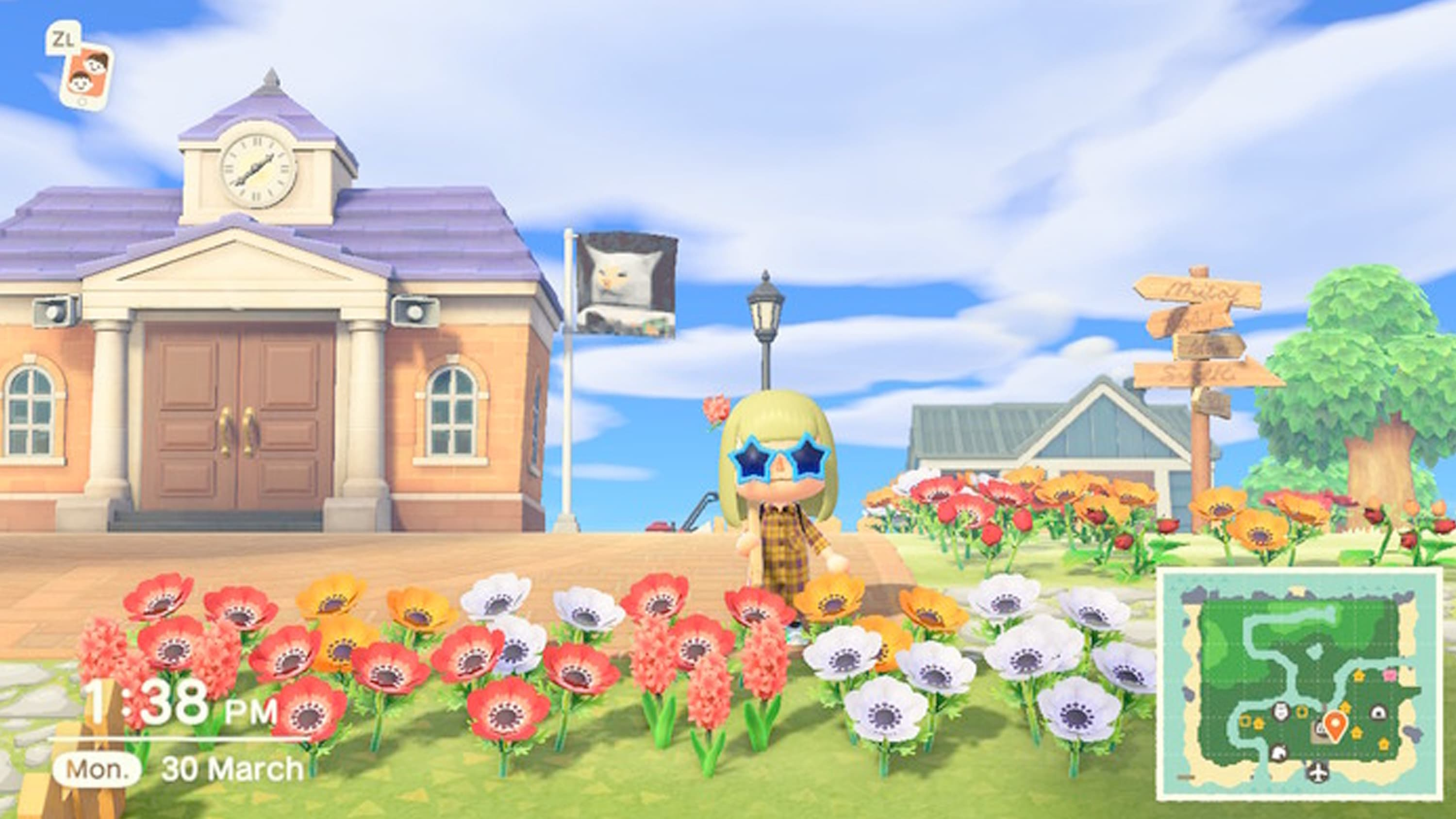 Town Plaza in Animal Crossing
