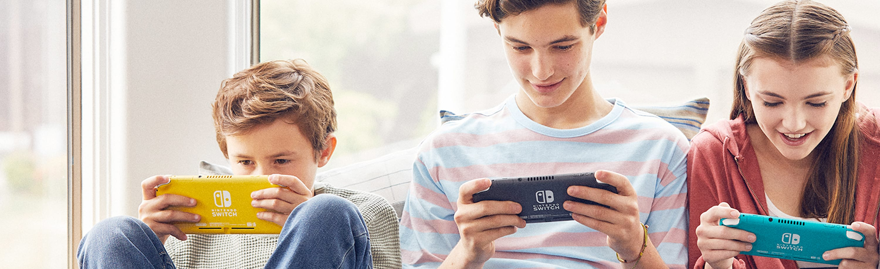 Family playing the Switch together