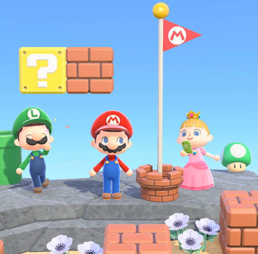 Animal Crossing: New Horizons and Mario