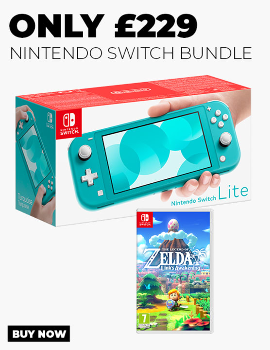 Switch Lite Turquoise with The Legend of Zelda Link's Awakening