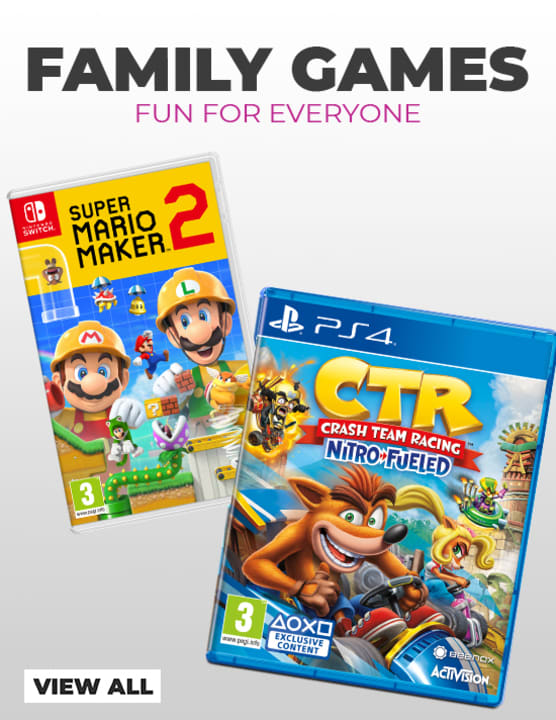 Family Games - Super Mario Maker 2 and Crash Team Racing