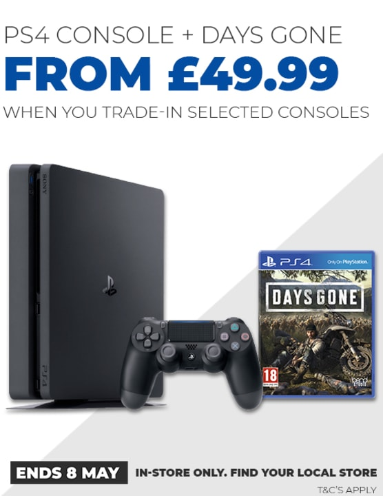 PS4 Console and Days Gone Trade In Deal
